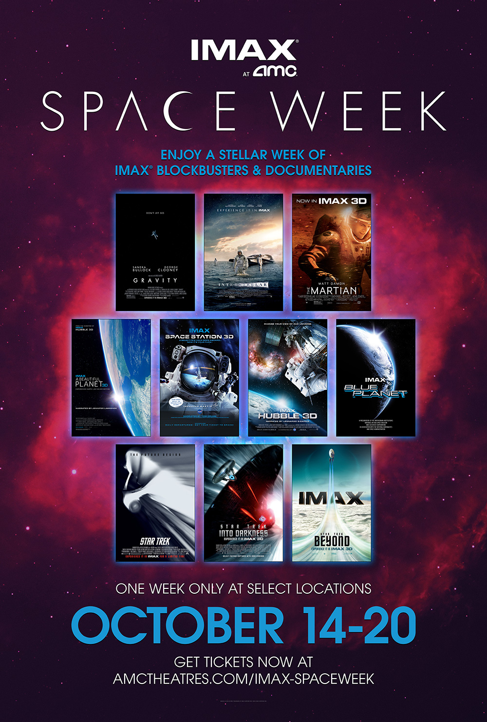 Imax Space Week Launches At Amc Theatres In October Imax