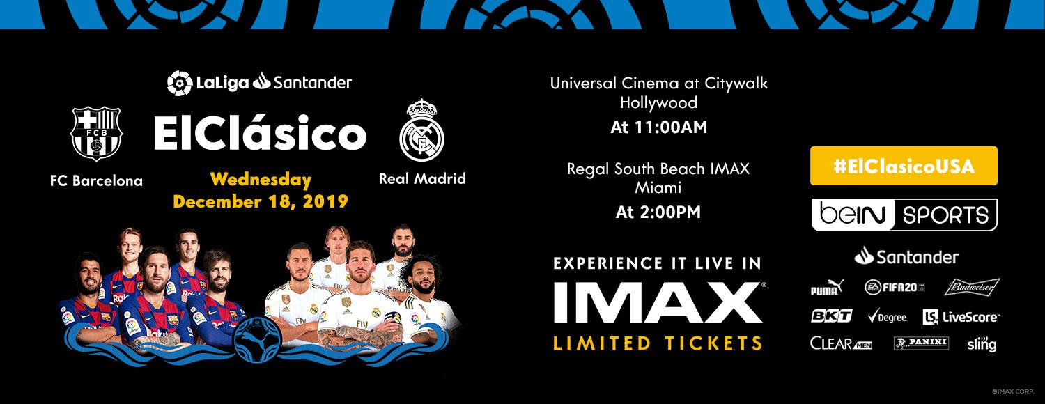 Experience El Clásico: FC Barcelona vs. Real Madrid in IMAX?