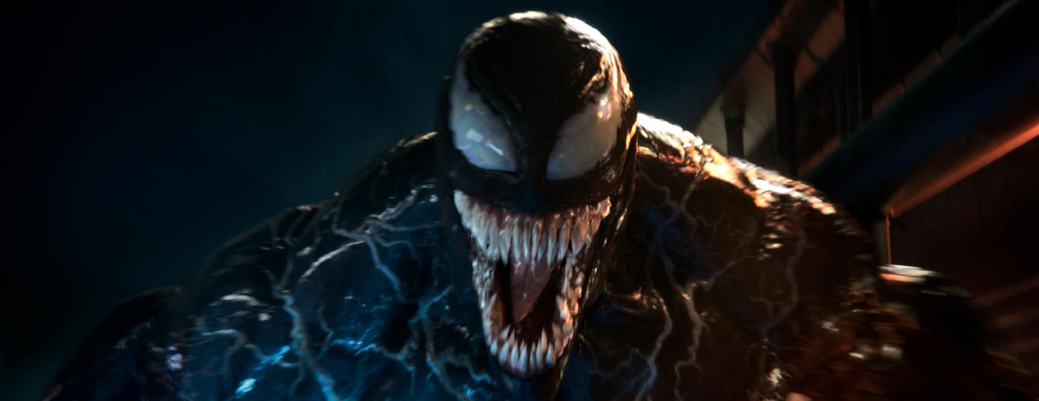"Image of Anti-Hero ""Venom"" looking menacingly into the camera"